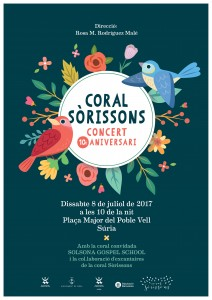 2017 07 08 Cartell concert de la Coral Sòrissons Festa Major